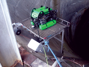 This LBV300XL remotely operated vehicle was used to provide an overall condition assessment of the downstream end of the tunnel providing water to the 1,000-MW Kemano powerhouse.