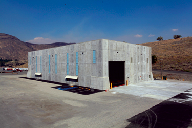 Because of the sheer amount of lay-down space required to disassemble and inspect each of the six units in the Grand Coulee Third Power Plant, the Bureau of Reclamation hired a contractor to build a material storage building. This building provides secure, climate- and temperature-controlled storage space.