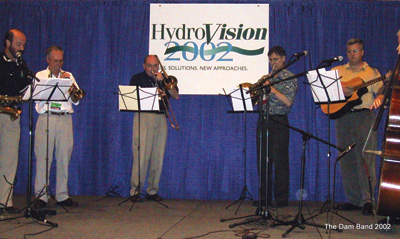 The Dam Band, made up of musically talented hydro industry professionals, entertained HydroVision International attendees for several years.