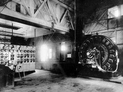 The original powerhouse was constructed in 1891 with a single 3.6-MW generator unit attached to two Pelton turbines.