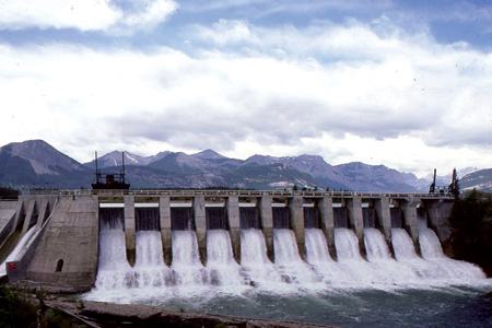 The Kananaskis hydropower plant is still providing power to southern Alberta. It generates approximately 93,500 MWh annually.