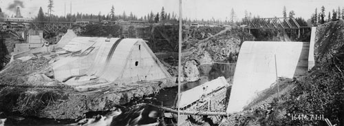 River Mill Dam, pictured during its construction circa 1910, was an enormous investment at the time in terms of money and technology for the local community. It has since become a stalwart facility.