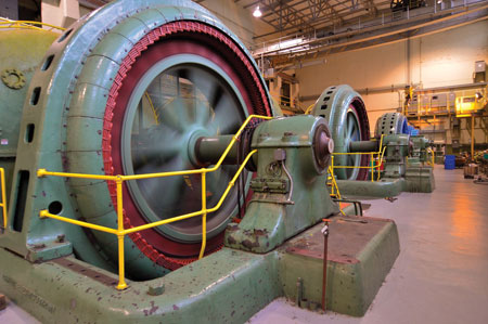 River Mill's powerhouse has five turbines that use water from the Clackamas River to provide a total capacity of 25 MW of electricity to power homes and industry in the area, including the city of Estacada, Ore,