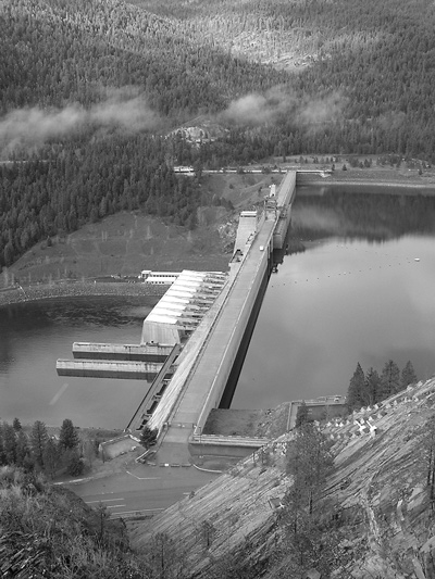GPS receivers installed along crest of Libby Dam in Montana
