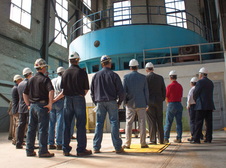 The rededication of the Fond du Lac station in May 2014 included tours of the powerhouse as part of Minnesota Power's Hometown Hydropower initiative.