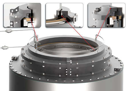 The REvolution system collects performance data, including seal interface wear and pressure.
