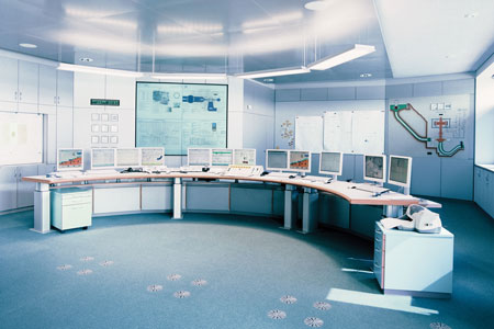 Pictured is the control room in the Herdecke pumped-storage plant in North Rhine- Westphalia, which replaced the nearby Koepchenwerk pumped-storage plant after it suffered a mechanical breakdown in the 1980s. (Photo courtesy Voith Hydro)