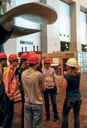 Students learn about hydropower careers.