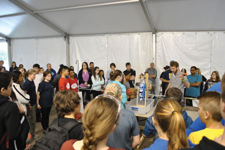 Students in grades 7 and 8 construct and test working waterwheels as part of Skills Ontario's Technological Skills Competitions Green Energy Challenge.