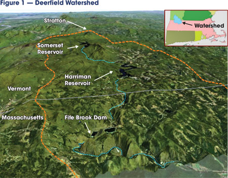The Deerfield watershed in Vermont consists of eight dams from Somerset Reservoir in Windham County, Vt., to just below Gardners Falls in Franklin County, Mass.