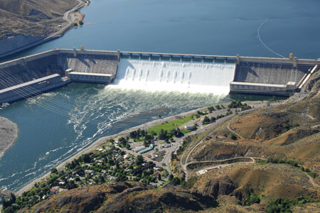 Grand Coulee's first powerhouses were completed in 1942. The third was finished in 1974.