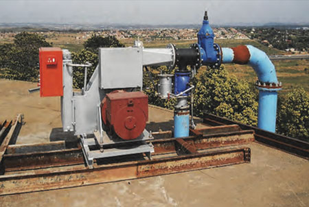 An existing pico hydropower turbine installed at the Pierre van Ryneveld Reservoir near Tshwane was used by researchers as a case study for small conduit hydropower.