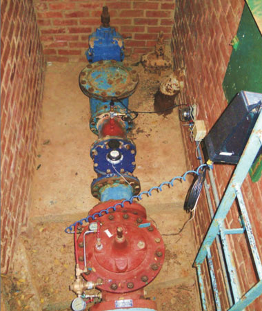 Data loggers were installed to take pressure and flow measurements at Waterkloof Reservoir's pressure-reducing station to project its hydro generating potential.