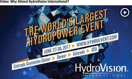 Learn the value of attending HydroVision International 2017. www.hydroevent.com