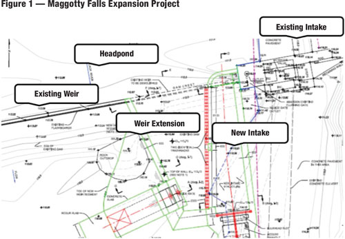 Kier Construction Ltd., project EPC contractor, largely adopted this conceptual plan for the Maggotty Fall expansion.