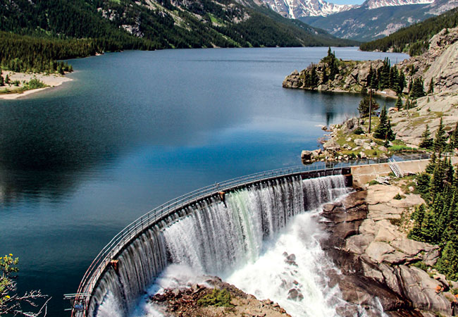 The 12-MW Mystic Lake project on West Rosebud Creek in Montana, U.S., owned by NorthWestern Energy. (photo courtesy NorthWestern Energy)