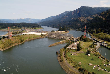 The Bonneville Dam and 1,242-MW hydro plant is just one location where the U.S. Army Corps of Engineers is conducting fish passage research.