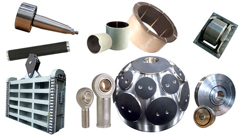 Example of self-lubricating bearing types for hydro. (Photo/Kamatics)