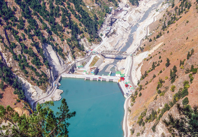 The 1,000-MW Karcham-Wangtoo hydro station on the Sutluj River in Himachal Pradesh, India, is owned by JSW Energy.