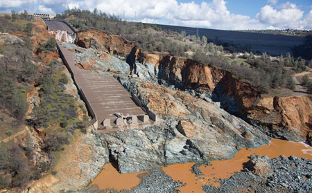 The first phase of reconstruction at California's Oroville Dam must be completed by Nov. 1 in anticipation of annual influxes into the Feather River.