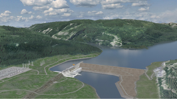 The 1,100-MW Site C project is just one example of large new hydro development in Canada. (photo courtesy BC Hydro)