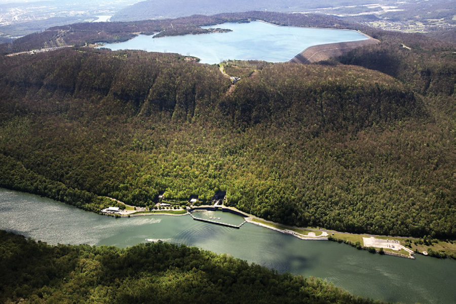 The 1,652-MW Racoon Mountain pumped hydro storage scheme on the Tennessee River in the U.S. is the largest hydroelectric facility operated by the Tennessee Valley Authority.