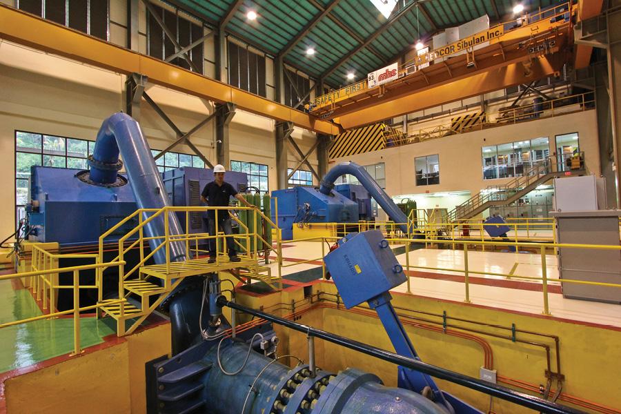 Sibulan B's pair of Pelton turbines were commissioned in February 2010.