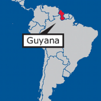 Guyana on map