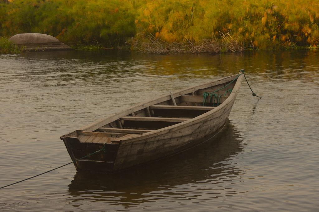 Boat on Lake Victoria
