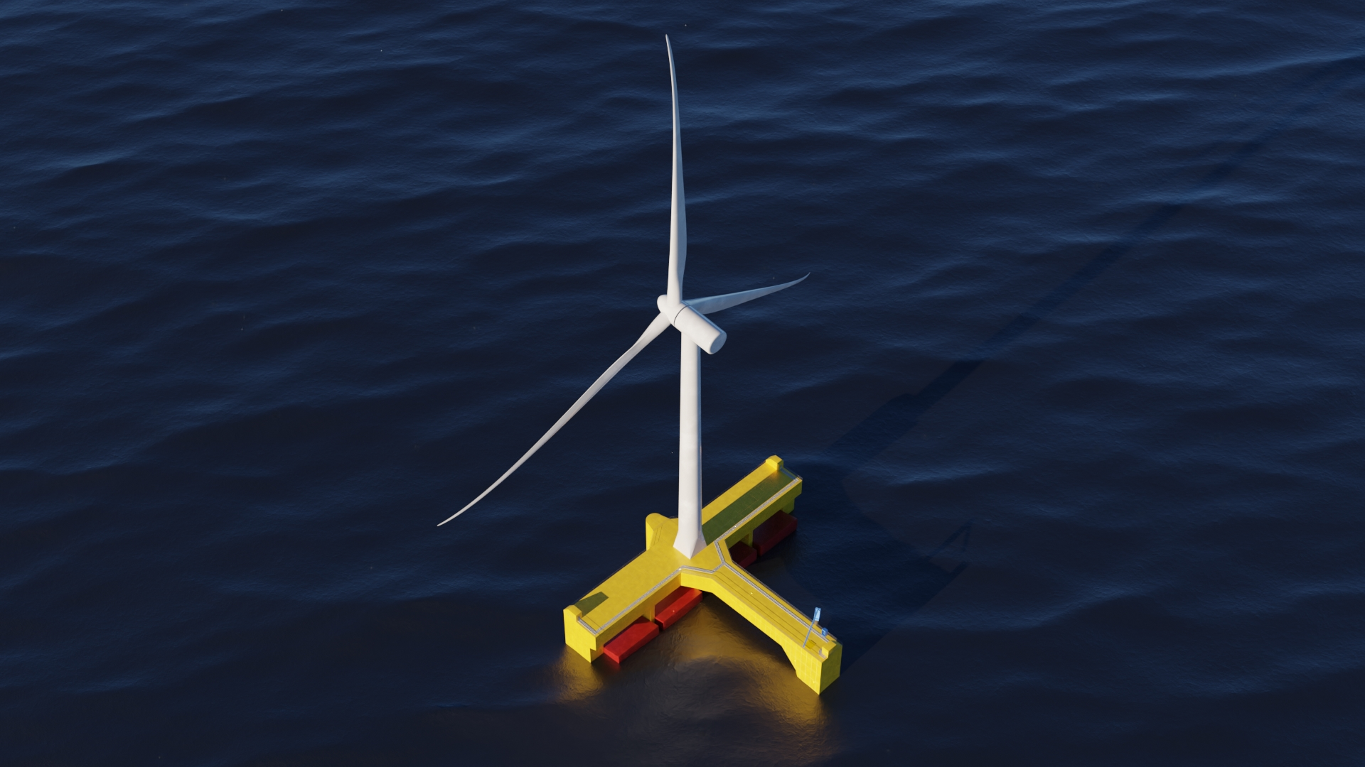 Floating wave power