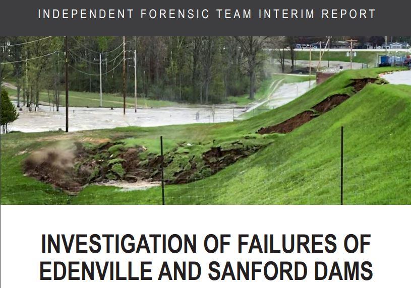 Edenville, Sanford report